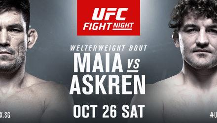 Pertarungan Seru UFC Kelas Welter antara Demian Maia VS Ben Askren Digelar di Singapura